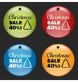 Christmas sale badge vector image