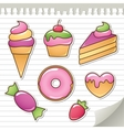 sweet stickers vector image