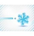 blue flower card vector image vector image