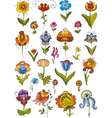 Flowers Set Isolated vector image vector image