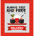 asian food delivery vector image