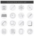 Back to School icon set school building pen pensil vector image