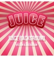 Background of Label for berry juice Bright premium vector image