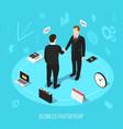 business partnership isometric background vector image