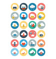 Cloud Computing Flat Icons 1 vector image