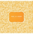 Golden lace roses frame seamless pattern vector image