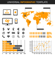 Infographic template for demography and traveling vector image