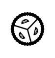 pie sweet dessert icon black vector image