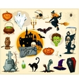 Halloween icons and symbols set vector image