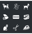 Set of Clothing for pets vector image