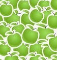 Fresh green apples seamless background vector image vector image