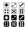 dice with rounded corners isolated on white vector image