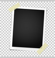 realistic photo frame with straight edges vector image vector image