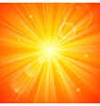 Abstract orange sunny background vector image vector image