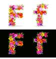 flower font vector image vector image