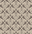Seamless retro wallpaper Vintage baroque vector image