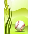 vector baseball background vector image vector image