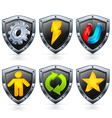 shield security icons vector image