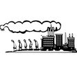 Workers leave factory vector image vector image