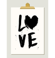 Black Paint Love Poster vector image vector image