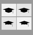 graduate cap vector image