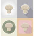 food objects flat icons 03 vector image