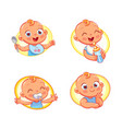 design template for baby food vector image