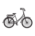 old bicycle retro icon vector image