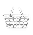 plastic supermarket basket vector image