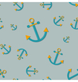 Seamless nautical pattern with anchors vector image