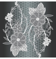 Seamless white floral lace ribbon vector image