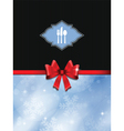 Christmas menu design vector image vector image