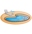 A swimming pool vector image