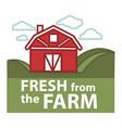 farm fresh product label farmer barn vector image