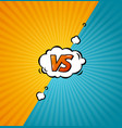 versus logo background vector image