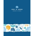 Blue and yellow flower silhouettes torn vertical vector image vector image