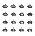 piggy bank icon set money saving vector image