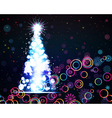 Glowing Christmas tree Abstract background vector image vector image