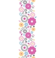 Vibrant floral scaterred vertical seamless pattern vector image