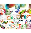 Mega set of wave abstract backgrounds vector image vector image