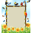 Animals and frame vector image