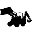 digger silhouette vector image vector image