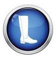 Autumn woman boot icon vector image