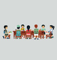 canteen table vector image