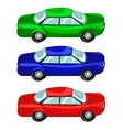 Cars red green blue vector image
