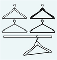 Clothes hangers vector image