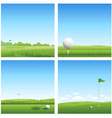 four golf backgrounds vector image