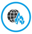 Global Fire Icon vector image