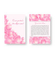 template greeting card with petals vector image