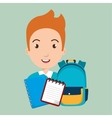 bag student notebook notepad vector image
